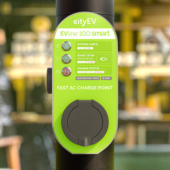 Cityline 100 Smart Charging Street EVSE Elexon and OLEV approved with CityEV Safevolt™