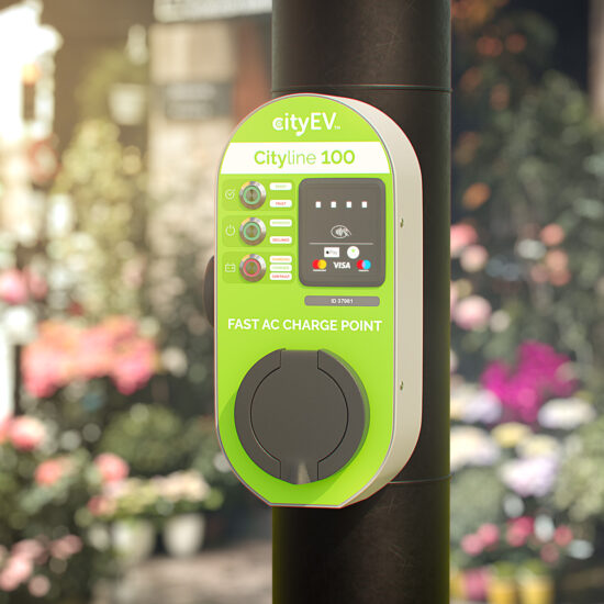 Cityline 100 CDC Smart Contactless EVSE with CityEV Safevolt™