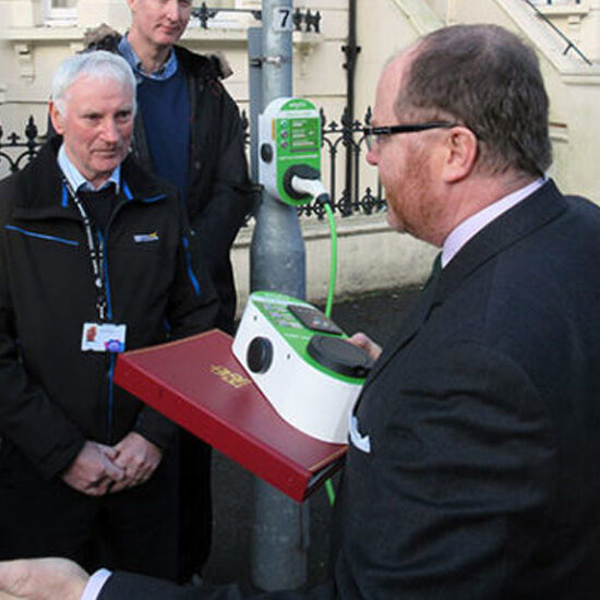 Ministerial Visit takes in CityEV charge points in Brighton