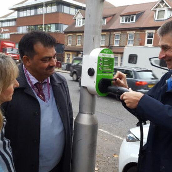 CityEV & JoJu Smart Column Charge Points for Reading