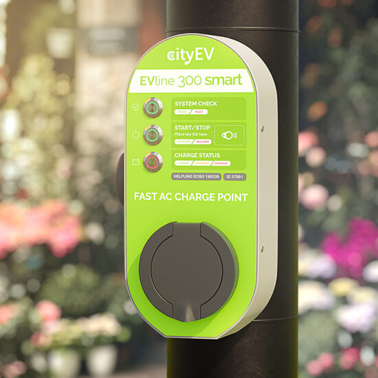 New EVLine 300 Smart – 22kw charge Point with Amendment 1 Earth Fault Protection